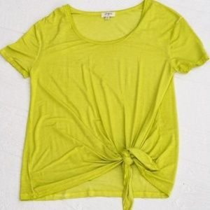 Lime Tie Top